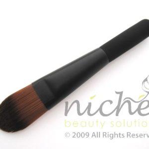 Cosmetic Foundation Brush with Black Ferrule