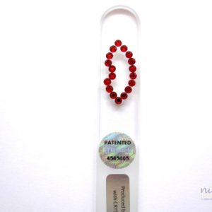 Crystal Glass Nail File with Red Lips in Swarovski