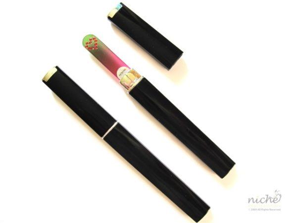 Medium Glass Nail File Case in Black
