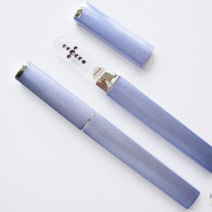 Medium Glass Nail File Case in Lilac