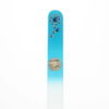 Crystal Glass Nail File with a Blue Flower in Swarovski