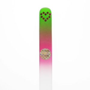 Crystal Glass Nail File with a Single Heart in Swarovski