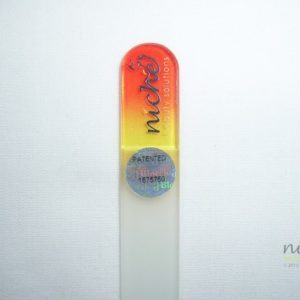 **SALE** Mini Glass Nail File with a Red to Yellow Handle