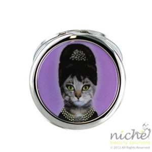 "PETS ROCK Cosmetic Compact Mirror - ""BREAKFAST"""