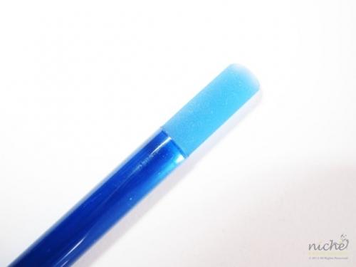 Glass Manicure Stick & Cuticle Pusher in Blue Glass
