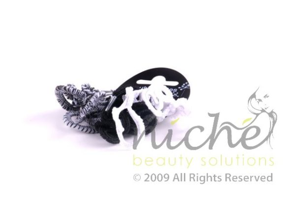 Beauty Senses Black and White Curly Hair Loops - 10 pack