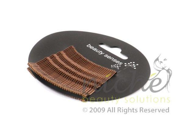 Beauty Senses Brown Kirbi Hair Grips