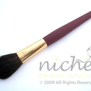 Cosmetic Blusher Brush with Gold Ferrule