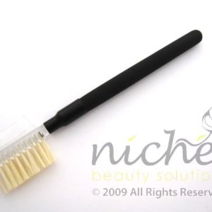 Cosmetic Eyebrow & Lash Comb with Black Ferrule