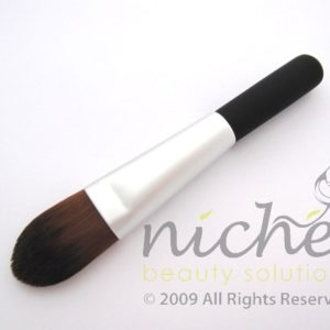 Cosmetic Foundation Brush with Silver Ferrule