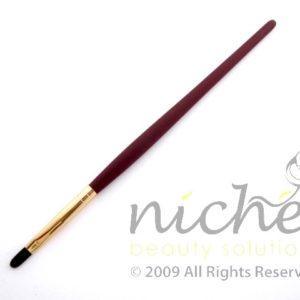 Cosmetic Lip Brush with Gold Ferrule