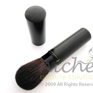 Cosmetic Retractable Blusher Brush in a Black Case