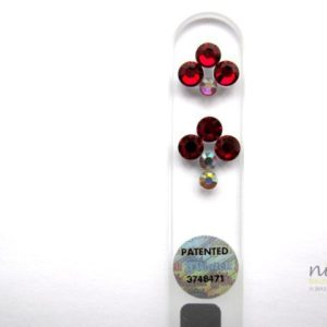 Crystal Glass Nail File with Ruby Red Arrows in Swarovski