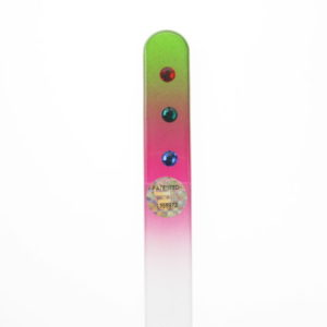 Crystal Glass Nail File with Three Crystal Drops in Swarovski