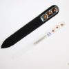 Crystal Glass Nail File with Dog Paws in Swarovski
