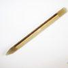 Glass Manicure Stick & Cuticle Pusher in Brown Glass