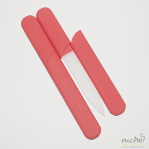 Glass Nail File in a Soft-Touch Red Protective Case