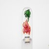 Glass Nail File with a Green and Pink Lilly Design