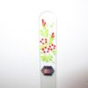 Glass Nail File with a Red Summer Flowers Design