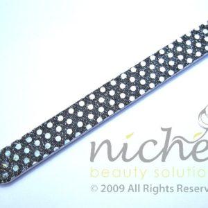Glitter Cushioned Emery Board - Black