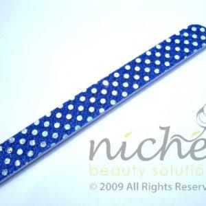 Glitter Cushioned Emery Board - Royal Blue
