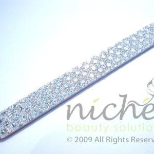 Glitter Cushioned Emery Board - White