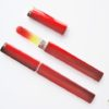 Medium Glass Nail File Case in Red