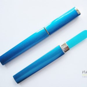 Medium Glass Nail File Case in Aqua Blue