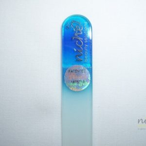 Mini Glass Nail File with Blue Handle