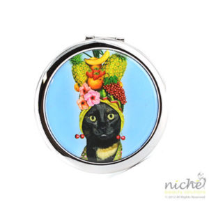 "PETS ROCK Cosmetic Compact Mirror - ""FRUIT"""