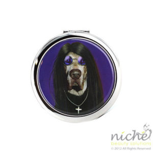 "PETS ROCK Cosmetic Compact Mirror - ""METAL"""