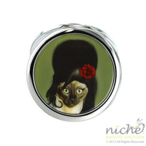 "PETS ROCK Cosmetic Compact Mirror - ""TATTOO"""