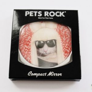 "PETS ROCK Cosmetic Compact Mirror - ""GG"""