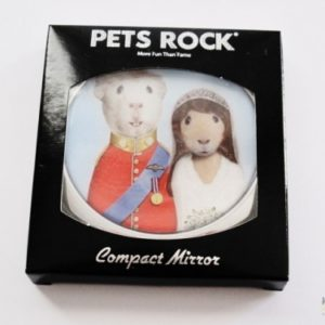 """PETS ROCK Cosmetic Compact Mirror - """"MR & MRS"""""""