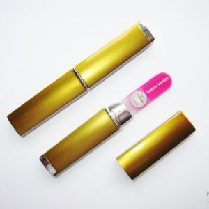 Small Size Glass Nail File Case in Gold