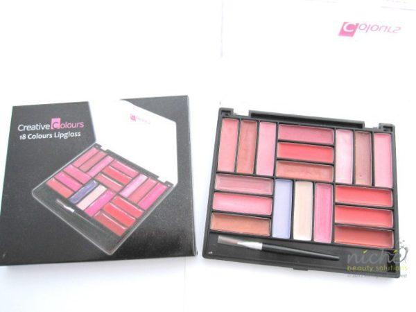 """CREATIVE COLOURS"" 18 Colour Lip Gloss Compact Set"