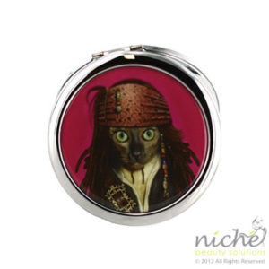"PETS ROCK Cosmetic Compact Mirror - ""PIRATE"""