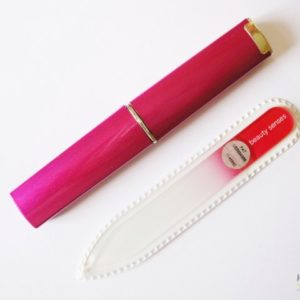 **SALE** Mini Glass Nail File in Pink with Case
