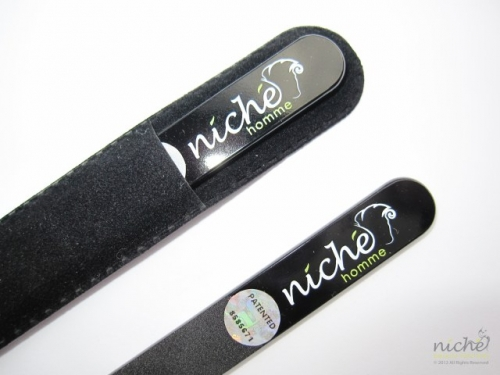 """Niché Homme"" Medium Glass Nail File in All Black"